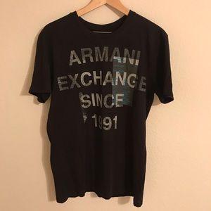 NWOT Armani Exchange 1991 Logo Tee